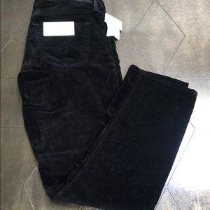 AG velvet skinny pants